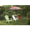Adams Mfg Corp Red Resin Stackable Patio Adirondack Chair