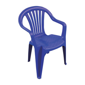 Adams Mfg Corp Navy Slat Seat Resin Stackable Patio Dining Chair