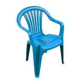 Adams Mfg Corp Teal Slat Seat Resin Stackable Patio Dining Chair
