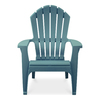 Adams Mfg Corp Teal Resin Stackable Patio Adirondack Chair