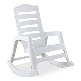 Display Product Reviews For 1 Count White Resin Stackable Patio Rocking  Chair With