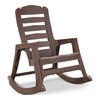 Adams Mfg Corp Earth Brown Resin Stackable Rocking Chair