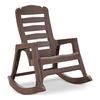 Adams Mfg Corp Earth Brown Resin Slat Seat Outdoor Rocking Chair