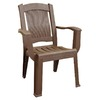 Adams Mfg Corp Earth Brown Slat Seat Resin Stackable Patio Dining Chair
