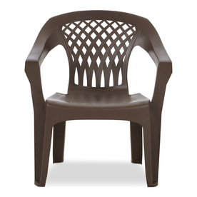 Display Product Reviews For 1 Count Earth Brown Resin Stackable Patio  Dining Chair With