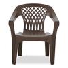 Adams Mfg Corp Earth Brown Resin Dining Chair
