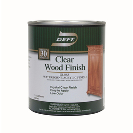 Shop Deft Water Base Clear Wood Finish 3195 fl Oz Interior Stain At Lowescom