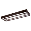 Portfolio 53-1/2-in Bronze Flush-Mount Fluorescent Light ENERGY STAR