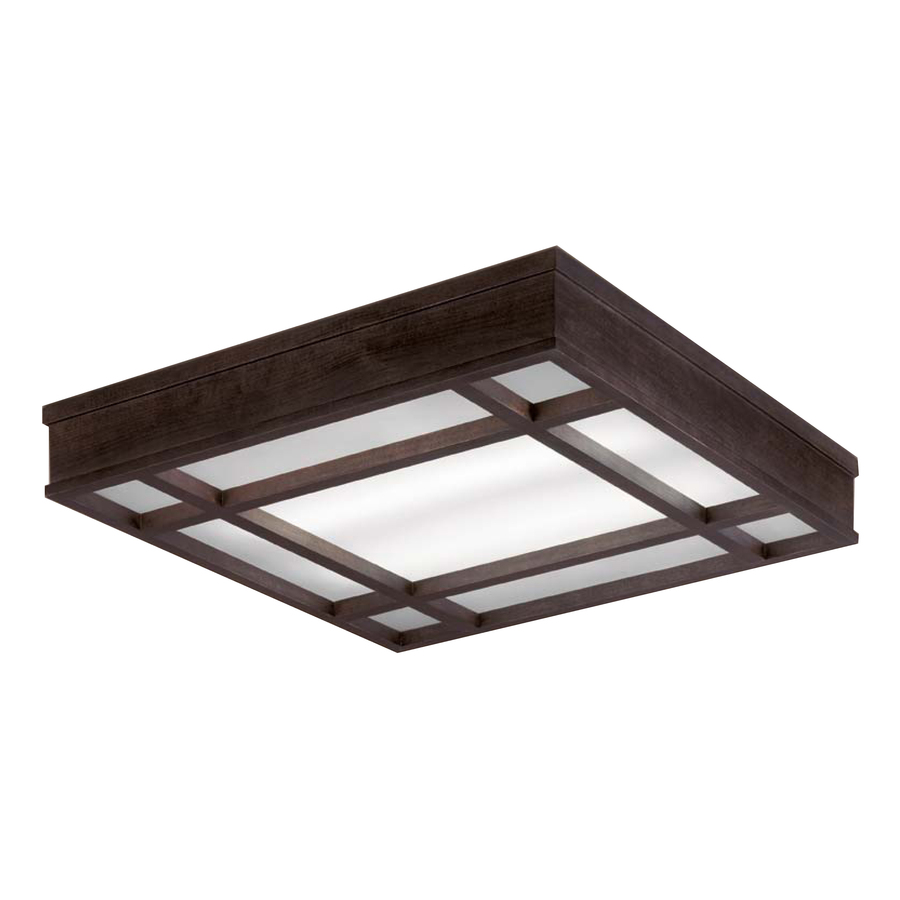 shop portfolio brown ceiling fluorescent light energy star common 2. Black Bedroom Furniture Sets. Home Design Ideas