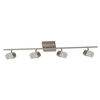 Portfolio Altus 4-Light Brushed Nickel Flush Mount Fixed Track Light Kit