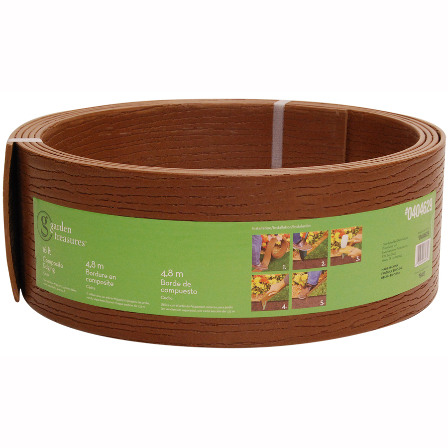 shop garden treasures 16 ft cedar landscape edging roll at