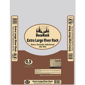 0.5 cu ft River Rock