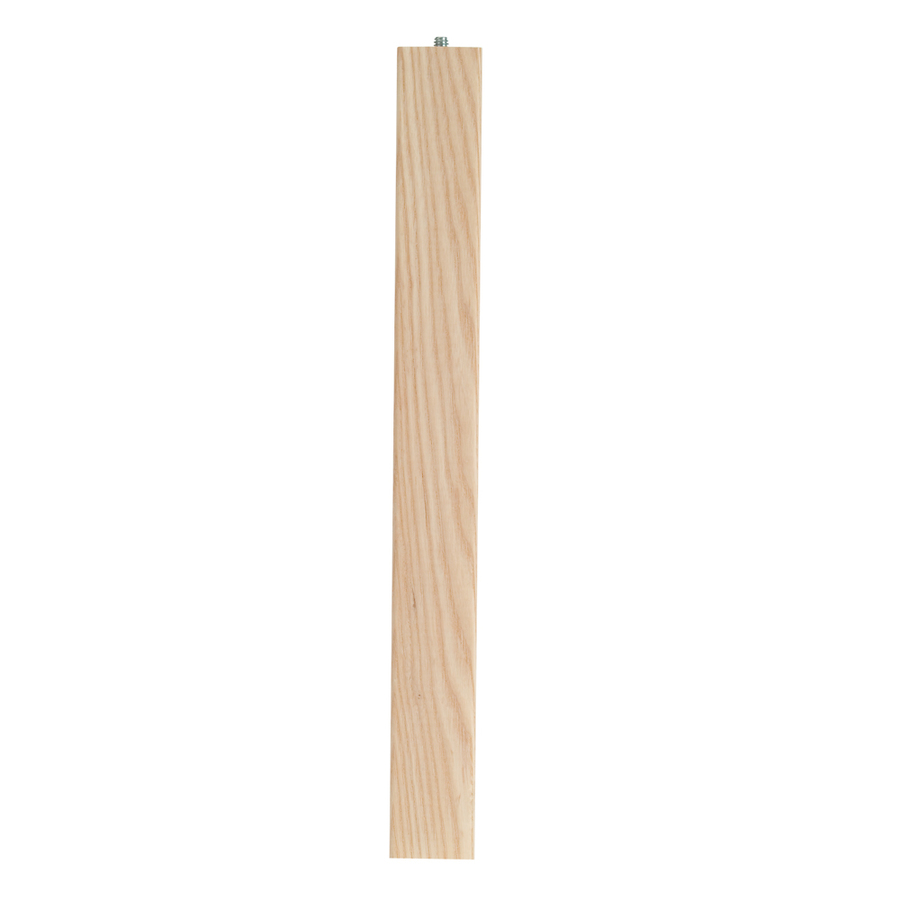 Shop waddell 28 in ash parsons traditional wood table leg for Table legs lowes
