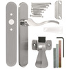 WRIGHT PRODUCTS 3.5-in Keyed Satin Nickel Screen Door and Storm Door Mortise Latch
