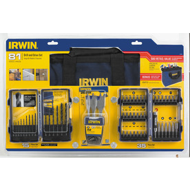 IRWIN  81 Piece Tool Accessory Kit with Contractor Bag $14.97