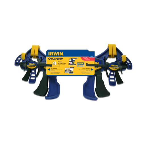 Zoomed: IRWIN 4-Piece Micro and Mini Clamp Set
