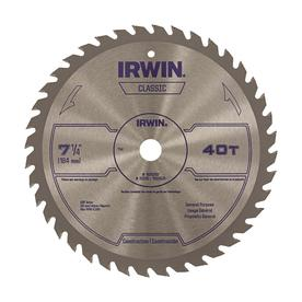 IRWIN Classic 7-1/4-in 40-Tooth Circular Saw Blade
