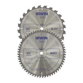 IRWIN 2-Pack 10-in Circular Saw Blade Set