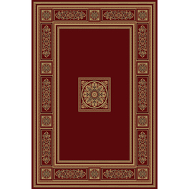 Natco Chateaux 63-in x 91-in Rectangular Red/Pink Transitional Area Rug