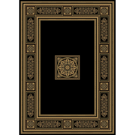 Natco Chateaux 24-in x 91-in Rectangular Black Transitional Area Rug