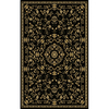 Natco Leyla 24-in x 40-in Rectangular Black Accent Rug