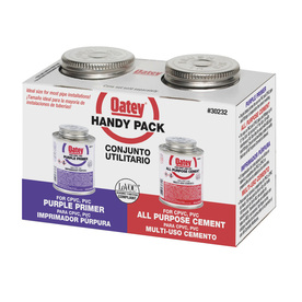 Oatey 8 fl oz PVC Cement and Primer