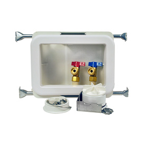 Oatey Quarter-Turn Ball Valve CPVC Washing Machine Outlet Box 38471