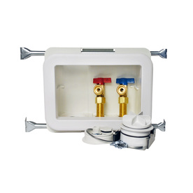 Oatey Quarter-Turn Ball Valve Pex Washing Machine Outlet Box