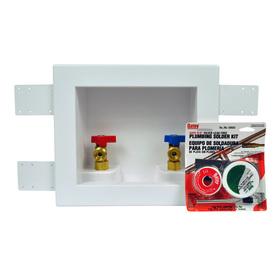 Oatey Quarter-Turn Ball Valve Copper Sweat Washing Machine Outlet Box
