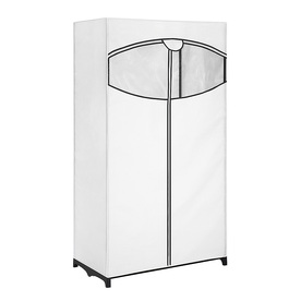 Style Selections White Steel Garment Rack with Cover