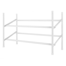 Style Selections 20 Pair White Metal Shoe Rack