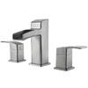 Pfister Kenzo Brushed Nickel 2-Handle Widespread WaterSense Labeled Bathroom Sink Faucet (Drain Included)