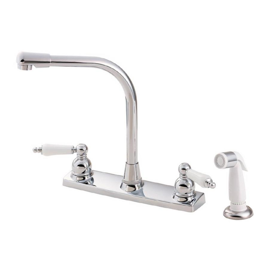 Shop Pfister Christie Polished Chrome 2 Handle High Arc Kitchen Faucet Side With Side Spray At