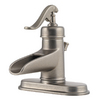 Pfister Ashfield Rustic Pewter 1-Handle 4-in Centerset WaterSense Bathroom Sink Faucet (Drain Included)