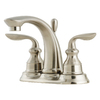 Pfister Avalon Brushed Nickel 2-Handle 4-in Centerset WaterSense Bathroom Sink Faucet (Drain Included)