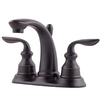 Pfister Avalon Tuscan Bronze 2-Handle 4-in Centerset WaterSense Bathroom Sink Faucet (Drain Included)