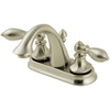 Pfister Catalina Brushed Nickel 2-Handle Single Hole WaterSense Bathroom Sink Faucet (Drain Included)