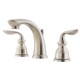 Pfister Avalon Brushed Nickel 2-Handle Widespread WaterSense Bathroom Faucet (Drain Included)