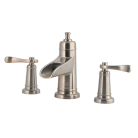 Pfister Ashfield Brushed Nickel 2-Handle Widespread WaterSense Bathroom Sink Faucet (Drain Included)
