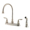 Pfister Avalon 2-Handle High-Arc Kitchen Faucet with Side Spray