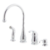 Pfister Treviso Polished Chrome 1-Handle High-Arc Kitchen Faucet with Side Spray