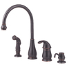Pfister Treviso Tuscan Bronze 1-Handle High-Arc Kitchen Faucet with Side Spray