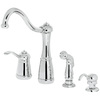 Pfister Marielle Polished Chrome 1-Handle High-Arc Kitchen Faucet with Side Spray