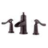 Pfister Ashfield Tuscan Bronze 2-Handle Widespread WaterSense Bathroom Sink Faucet (Drain Included)