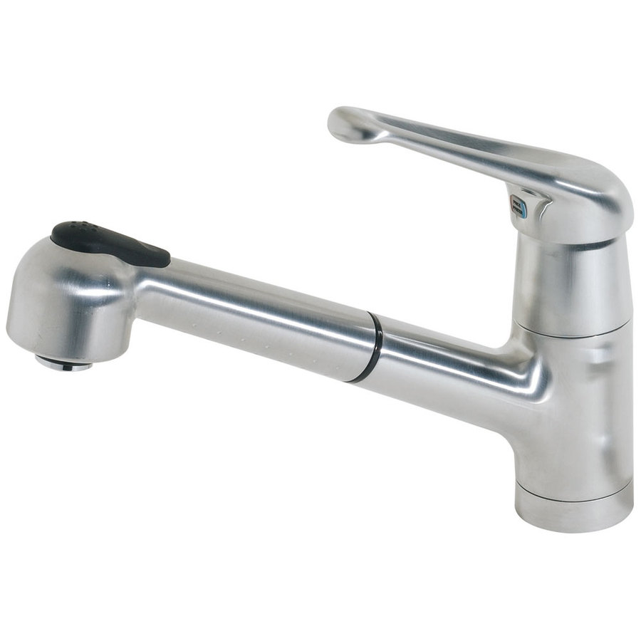 Shop Pfister Genesis Stainless Steel 1 Handle Pull Out Kitchen Faucet At