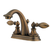 Pfister Catalina Velvet Aged Bronze 2-Handle 4-in Centerset WaterSense Bathroom Sink Faucet (Drain Included)