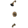 Pfister Catalina Velvet Aged Bronze 1-Handle Bathtub and Shower Faucet Trim Kit with Multi-Function Showerhead