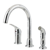 Pfister Cagney Polished Chrome 1-Handle High-Arc Kitchen Faucet with Side Spray