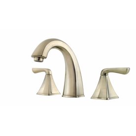 Pfister Selia Brushed Nickel 2-Handle Widespread WaterSense Bathroom Sink Faucet (Drain Included)