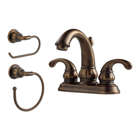 Pfister Treviso Velvet Aged Bronze 2-Handle 4-in Centerset WaterSense Bathroom Sink Faucet (Drain Included)